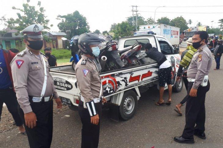 Polisi Gorontalo amankan puluhan motor diduga untuk balap liar