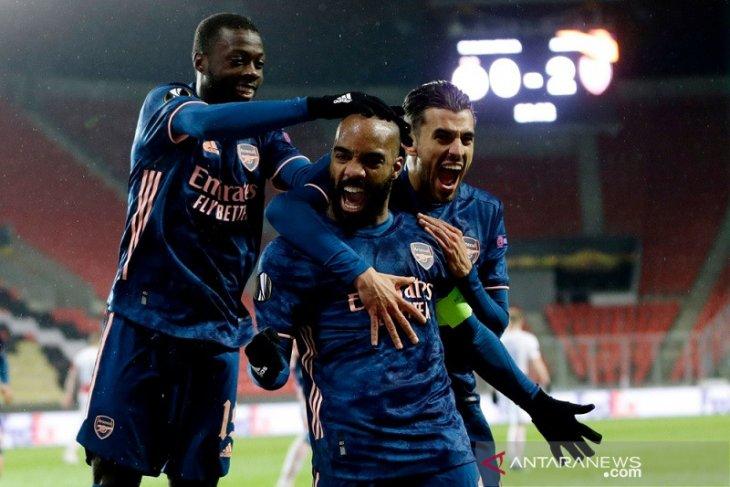 Arsenal menang di markas Slavia demi kunci tiket semifinal
