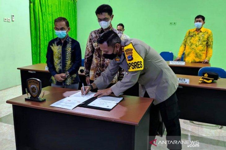 Pemkab Batola dukung MoU rekrutmen Bintara Polda Kalsel