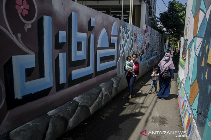 Kampung mural kaligrafi di Bandung