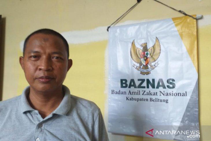 Baznas Belitung salurkan bantuan uang kepada marbut masjid dan fakir miskin