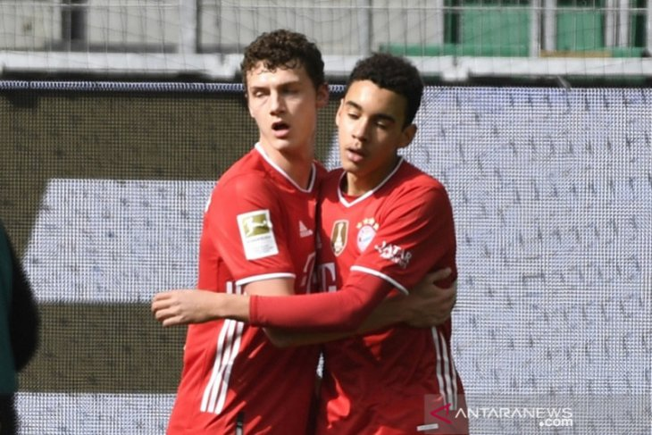 Jamal Musiala bawa Bayern Muenchen bekuk Wolfsburg 3-2