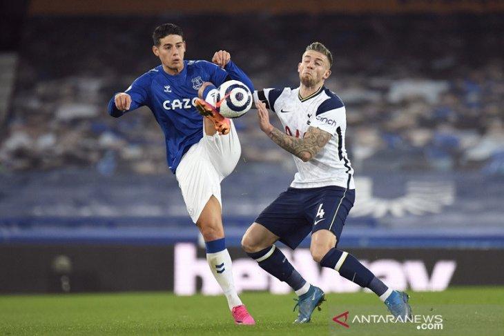 Liga Inggris: Berbagi poin, perburuan empat besar Everton dan Tottenham terganjal