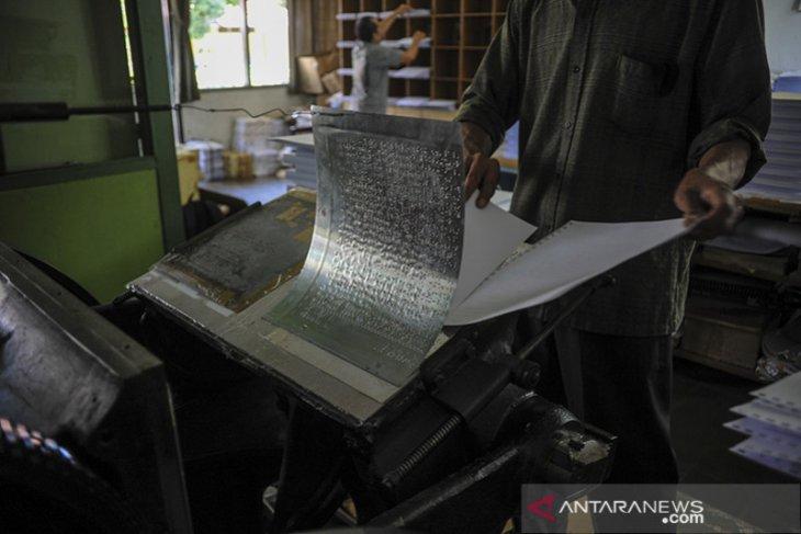 Produksi Al Quran braile di Bandung