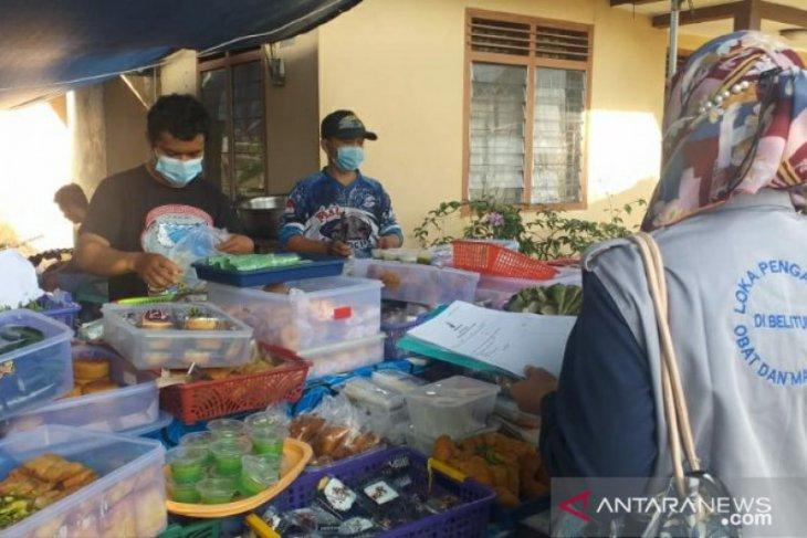 Loka POM-Dinkes Belitung lakukan uji sampel takjil buka puasa