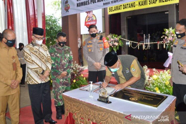 Forkopimda Bekasi turut resmikan Polsek Jatisampurna