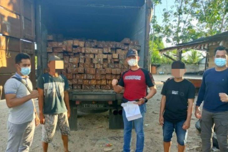 Polres Tabalong amankan truk berisi kayu Ulin ilegal