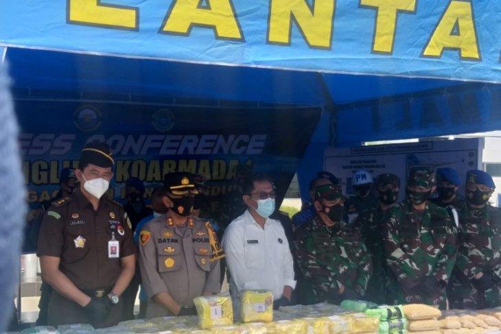 TNI AL sebut 100 kg sabu dari Malaysia akan dipasarkan di Tanjung Balai Sumut