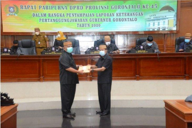 Gubernur Gorontalo serahkan LKPJ Tahun 2020 kepada DPRD