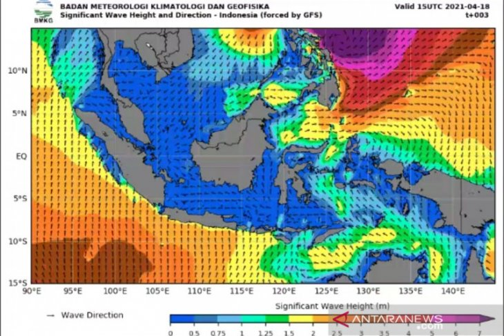 Surigae cyclone-generated high waves in Pacific Ocean, Halmahera
