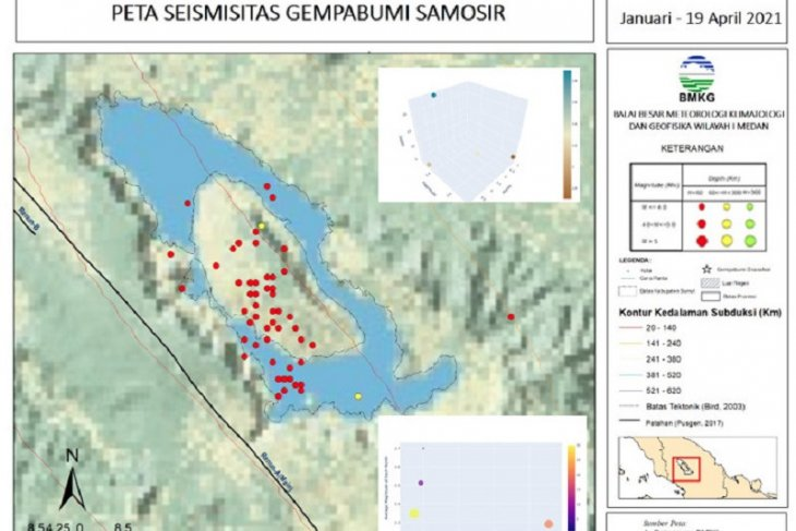 Samosir District experienced 60 quakes during Jan-Apr 19 period: BMKG