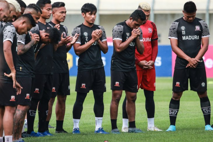 Madura United gelar latihan tertutup jelang Liga 1