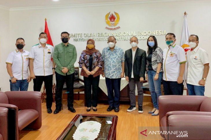 Bupati Bogor sambangi KONI Pusat minta dukungan tentang event olahraga