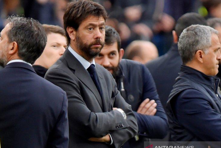 Presiden Juventus pesimistis Liga Super Eropa bisa berlanjut