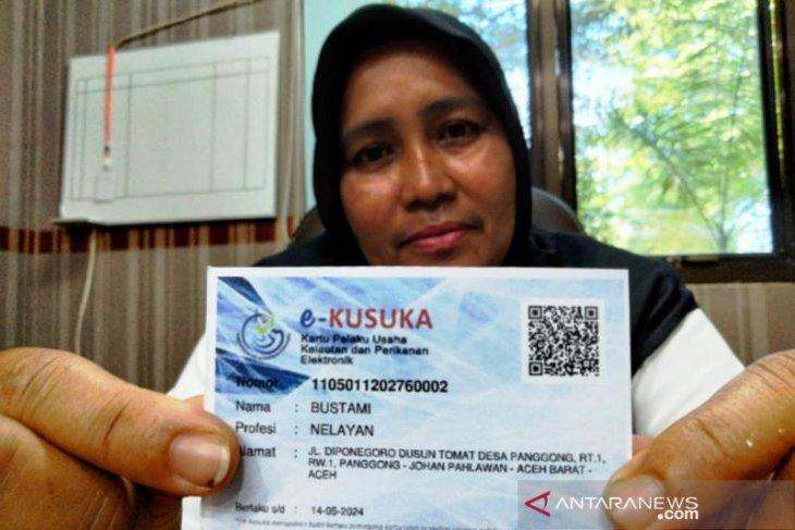 1.700 nelayan di Aceh Barat sudah terdaftar kartu