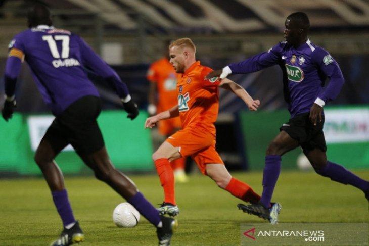 Montpellier ke semifinal Piala Prancis, tim kasta keempat membuat kejutan
