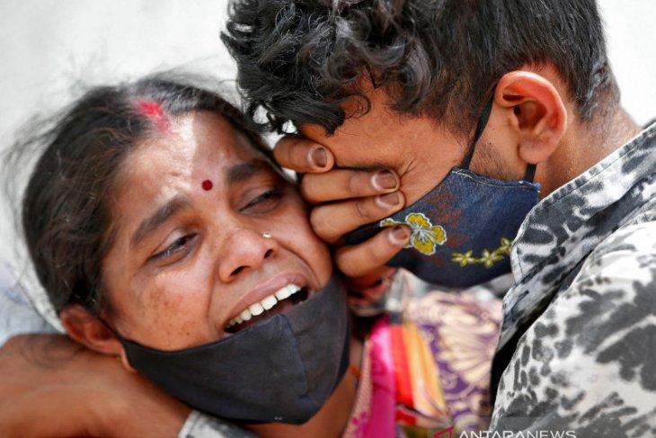 India laporkan  2.000 lebih korban meninggal COVID-19 dalam sehari