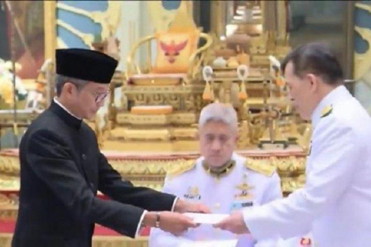 Dubes RI menyerahkan surat kepercayaan kepada Raja Thailand