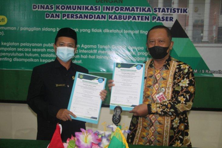 Pengadilan Agama -Kominfo Paser jalin kerjasama penyebarluasan informasi
