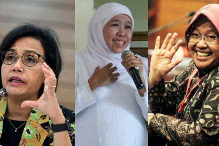 Sri Mulyani, Khofifah, dan Risma, perempuan tervokal di media massa