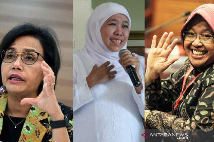 Sri Mulyani, Khofifah dan Tri Rismaharini, tiga perempuan terpopuler dan tervokal di media massa