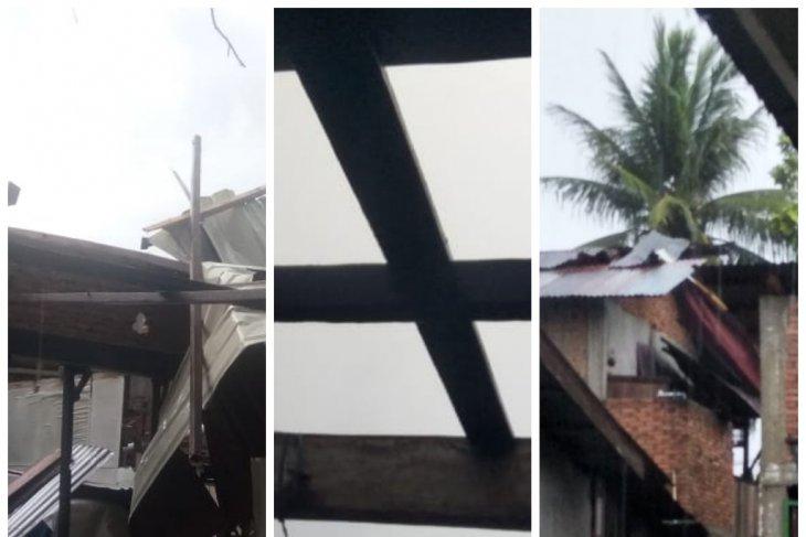 Angin puting beliung melanda Kecamatan Sawit Seberang Langkat, sembilan rumah rusak
