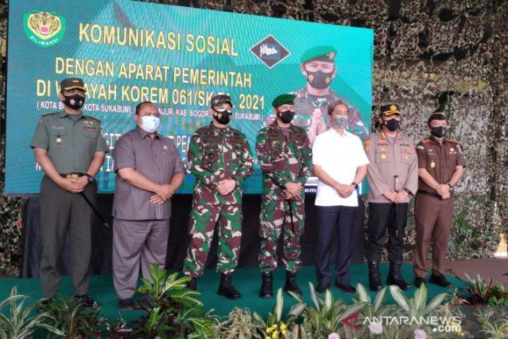 Personil TNI Korem 061/SK siap dukung pencegahan mudik lebaran