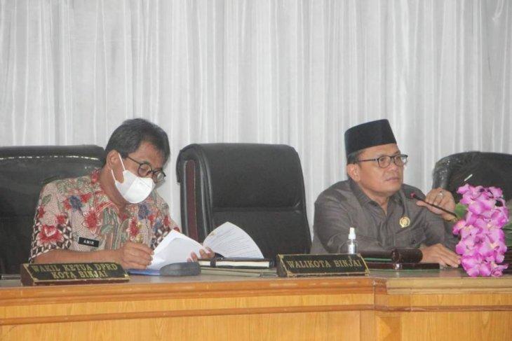 DPRD Binjai sampaikan rekomendasi LKPJ wali kota