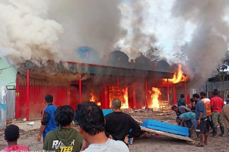 Enam ruko hangus terbakar di Phikei, Wamena