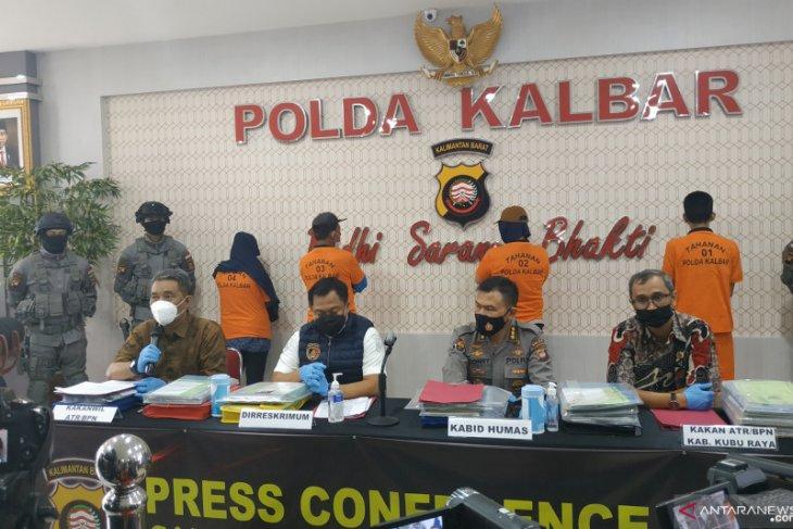 Polda Kalbar tangkap empat tersangka mafia tanah senilai Rp1 triliun