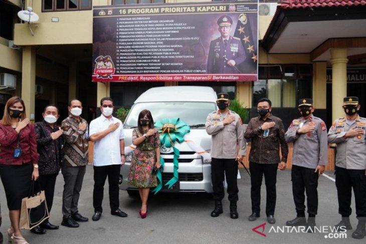 BNI sumbang kendaraan operasional ke Polda Maluku