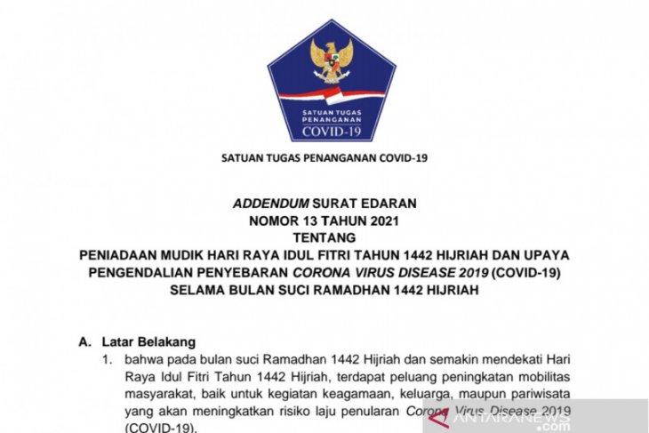 Satgas COVID-19 perketat mobilitas masyarakat melalui penetapan surat edaran