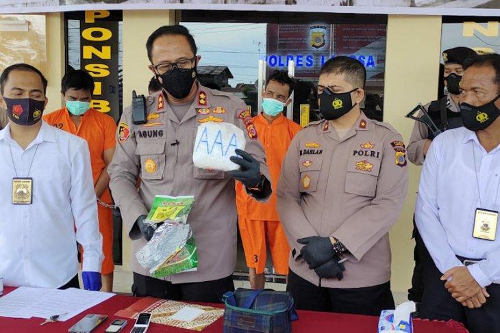 Polisi tangkap tiga bandar satu kilogram sabu-sabu di Langsa