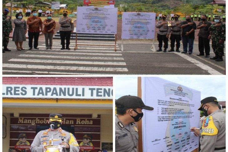 Polres Tapteng canangkan pembangunan zona integritas WBK dan WBBM