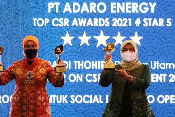 Adaro raih penghargaan di ajang TOP CSR Awards 2021