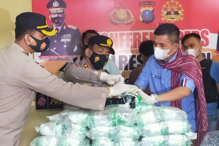 Kapolda: Kurir 57 kg sabu di Asahan akan dihukum maksimal