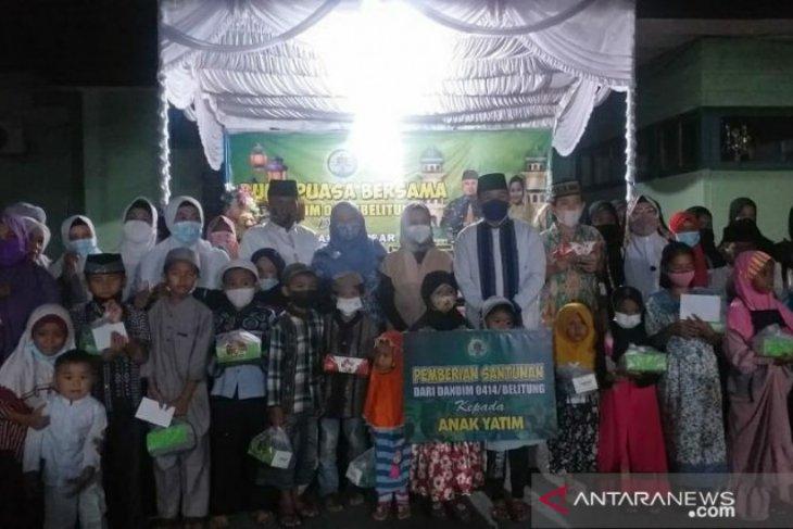 Kodim 0414 Belitung gelar buka puasa bersama dan santunan anak yatim