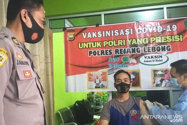 401 personel Polres Rejang Lebong telah divaksin