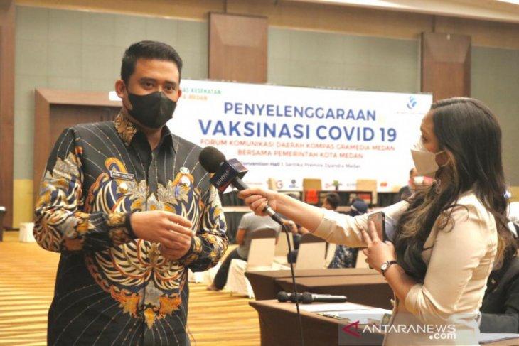 Baru 10 persen warga Medan divaksinasi COVID-19