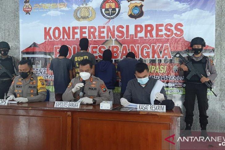 Satreskrim Polres Bangka amankan empat pelaku pembunuhan