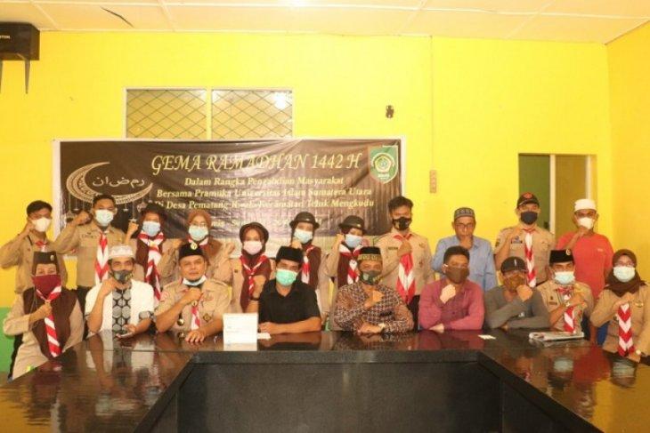 Pramuka UISU laksanakan Gema Ramadhan di Desa Pematang Kwala