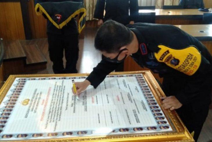Brimob Polda Sumut  canangkan zona integritas bebas korupsi