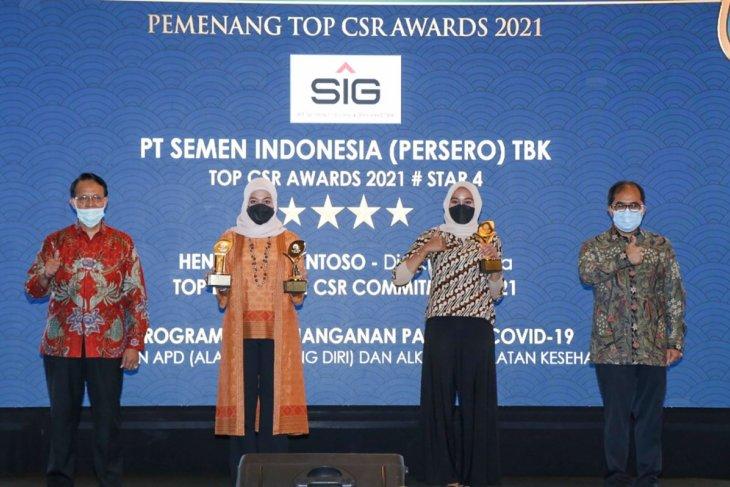 Semen Indonesia sabet  tiga penghargaan dalam ajang Top CSR 2021
