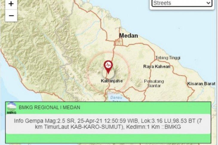 Aktivitas sesar lokal memicu gempa di wilayah Karo Sumut