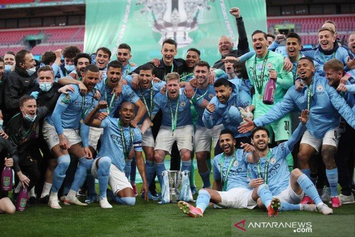 Manchester City samai rekor Liverpool di daftar juara Piala Liga Inggris
