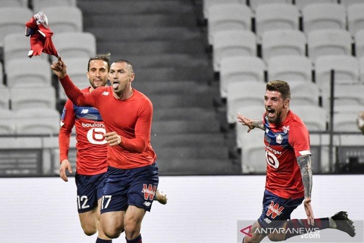 Liga Prancis: Lille amankan kembali pucuk klasemen seusai bangkit pecundangi Lyon