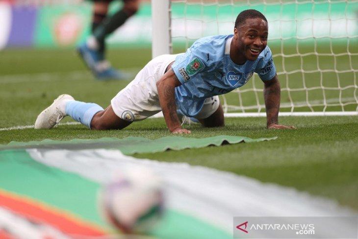 Guardiola menyanjung tinggi penampilan Raheem Sterling di Final Piala Liga