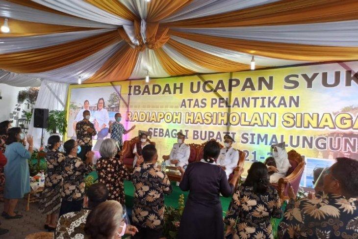 Bupati dan Wabup Simalungun dilantik di Medan, Forkopimda saksikan secara virtual