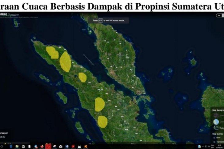 BMKG: Waspadai hujan lebat di sebagian wilayah pegunungan di Sumut