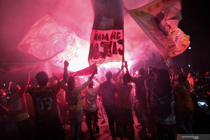 Polda Metro ciduk  65 suporter Jakmania pelaku kerumunan di Bundaran HI